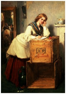 Lady Writing a Letter, Thomas Faed